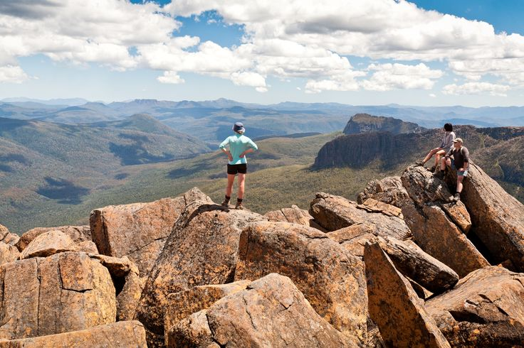 View from the top of Mt Ossa - Tassie's highest mountain