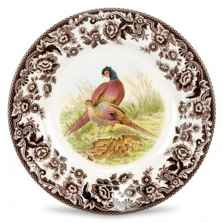 Spode Woodland Salad Plate 8 inch (Pheasant) - Woodland - Collections -Spode USA