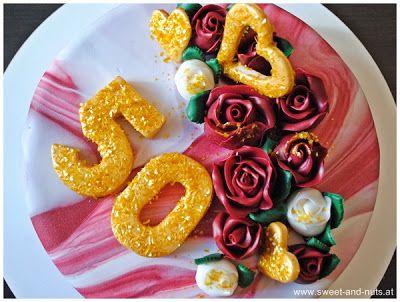 50. Hochzeitstagstorte