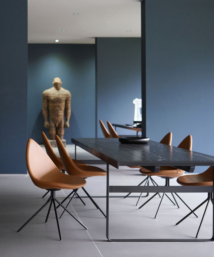 Dining chairs in this modern London home