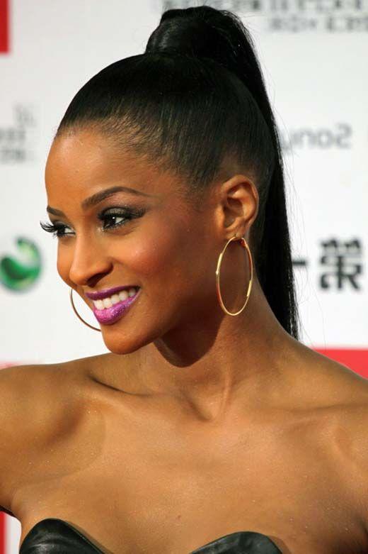 Ponytail Updo Hairstyles For Black Women Black Ponytail