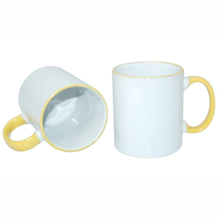 11oz Rim Handle Mug-Yellow