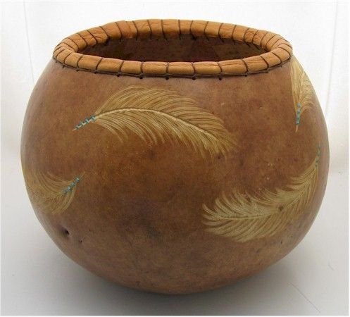 Carved Feathers, from Wild Gourd Studios