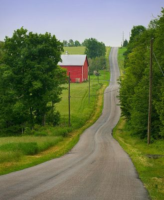 The pilgrimage road to Max Yasgur's dairy farm, where the Woodstock Music & Art Fair was held from August 15 thru August 18, 1969, Bethel, New York, 43 miles southwest of the town of Woodstock.