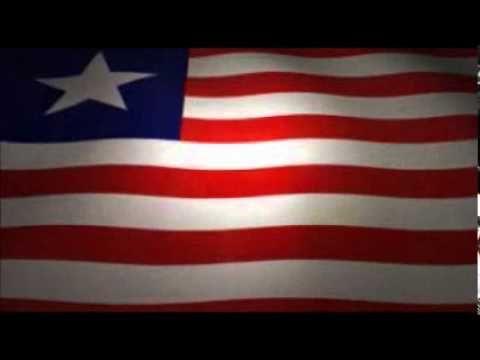 Waving Liberian Flag