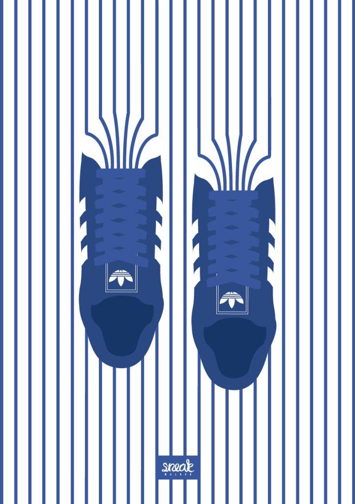 STRIPES A tribut to Adidas Superstar. Sneaker Illustration www.sneakwalker.de © Sneakwalker