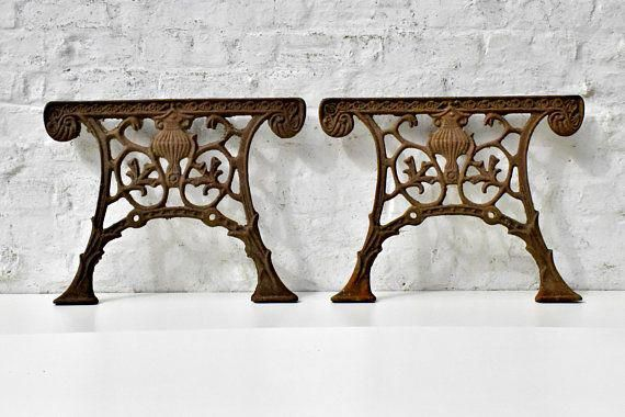 Cast Iron Bench Ends Antique Garden Furniture Legs French