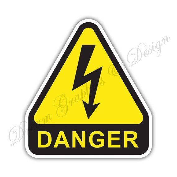 High Voltage Danger Warning Sign Car Bumper Vinyl Sticker Window Car Bumper 030 Em 2020 Com Imagens Desenho Vetor