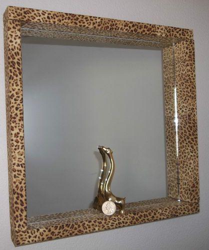 Leopard Cheetah Print 12x12 Vanity Mirror Girls Bedroom / Bathroom Animal Jungle Wall Decor.