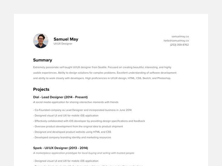 80 best Resume \/ CV images on Pinterest Career, Cv ideas and - application developer resume