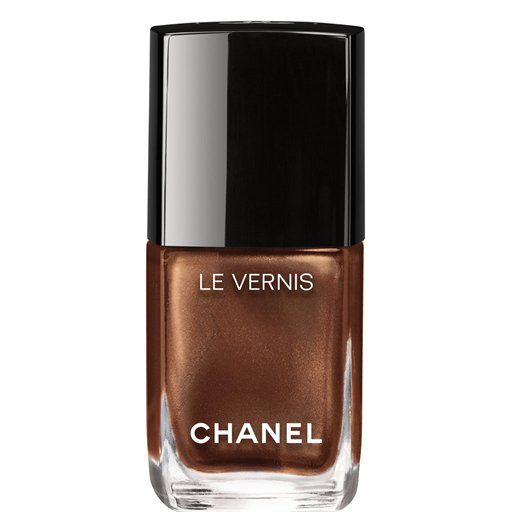 Pin for Later: 10 Hot New Nail Polishes That Will Complement Your Summer Glow Molten Bronze Chanel Le Vernis Longwear Nail Color in Cavalière ($28)