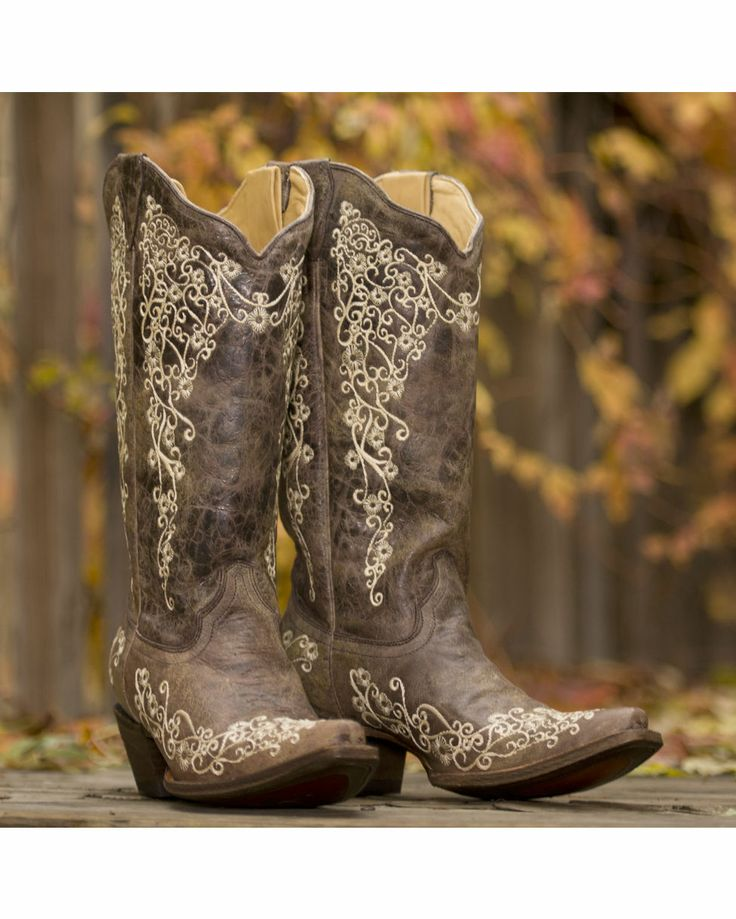 Corral Women's Brown Crater Bone Embroidery Boot {Featured on @Ree Drummond | The Pioneer Woman  2013}