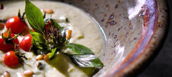 Avocado, Cream and Basil Soup