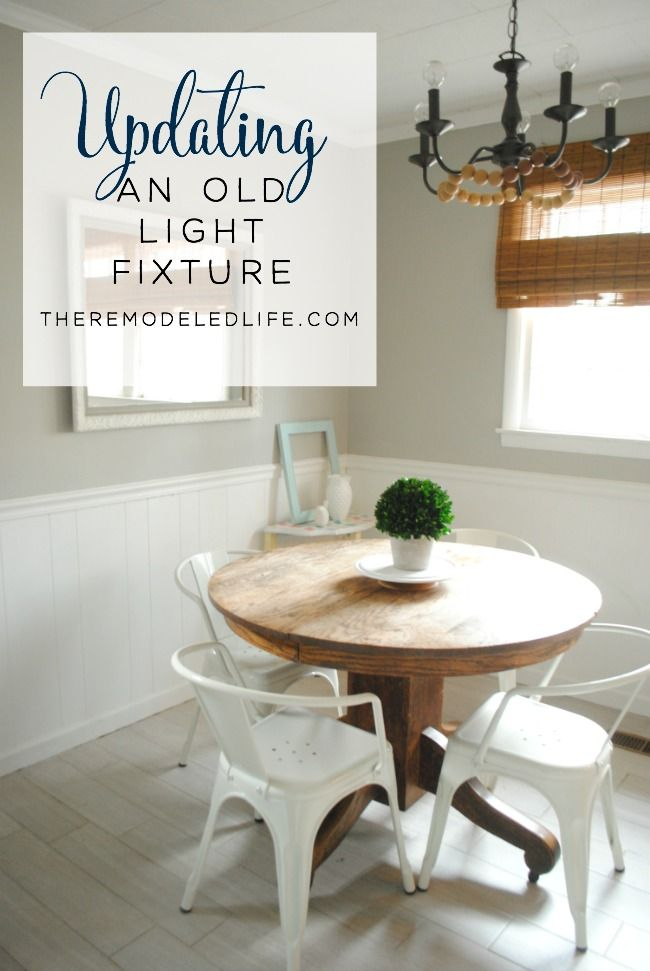 The Remodeled Life: Updating an Old Light Fixture