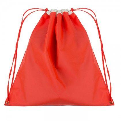 Αδιάβροχο πουγκί από πορτοκαλί πλαστικό με vinyl λευκό τελείωμα. Κόκκινο ή κίτρινο!