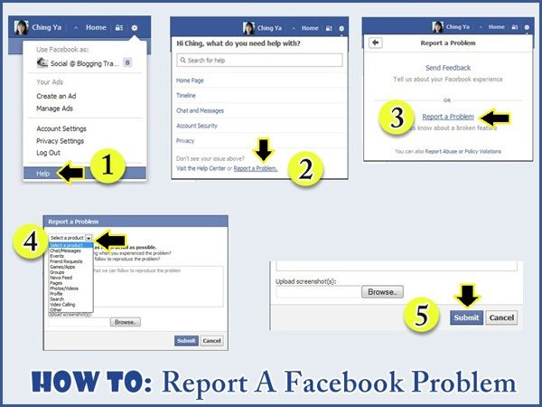 How to report facebook problem with 5 easy steps.