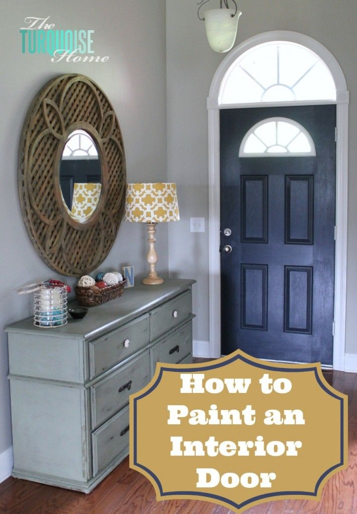 How to Paint an Interior Door #diy