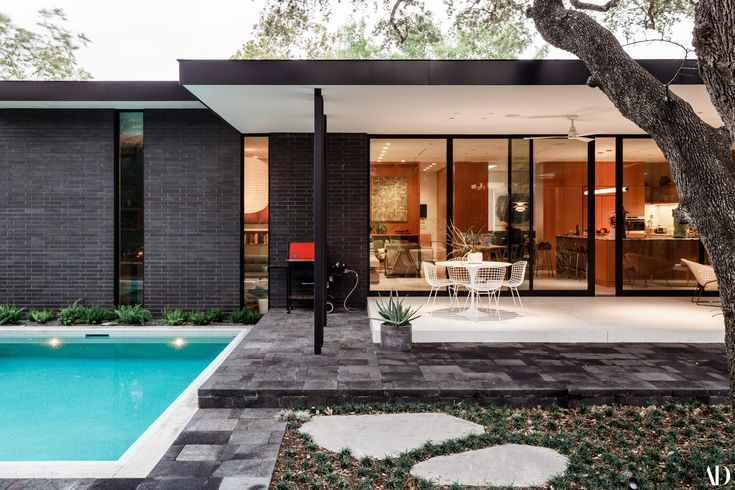 A Pair of L.A. Natives Create Their Own Midcentury Idyll in Austin Photos   Architectural Digest