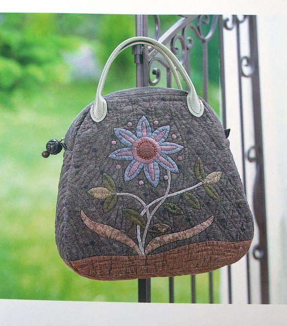 Beautiful appliqued bag by Yoko Saito by Very Berry Handmade, via Flickr