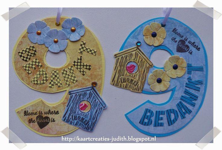Kaarten en Creaties van Judith: 2 labels voor aan snoep potten...