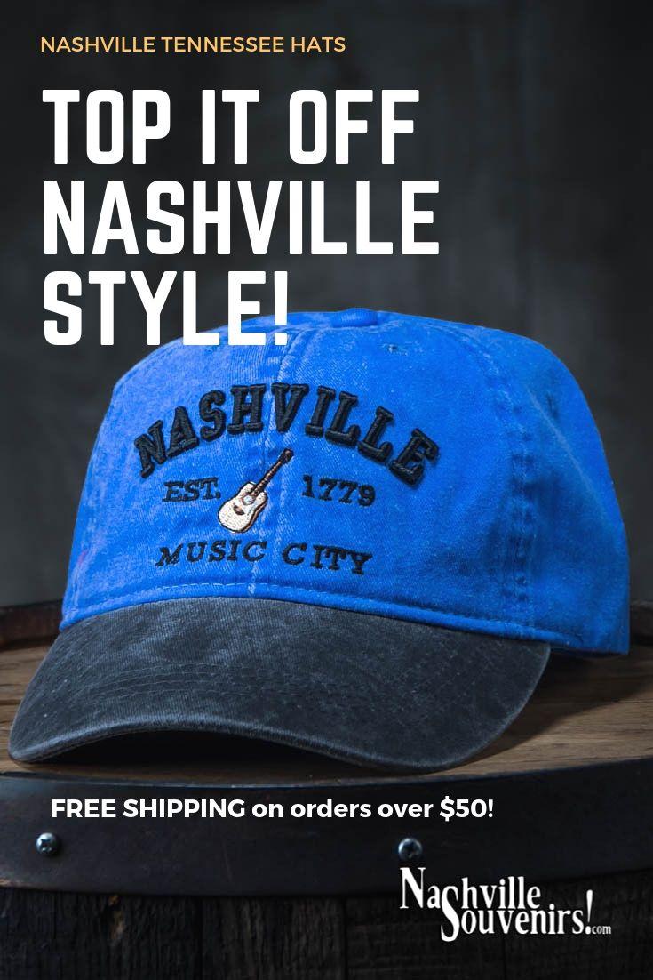 Nashville Est 1779 Music City Hat In Blue With Charcoal Bill Nashville Music City Nashville Nashville Music