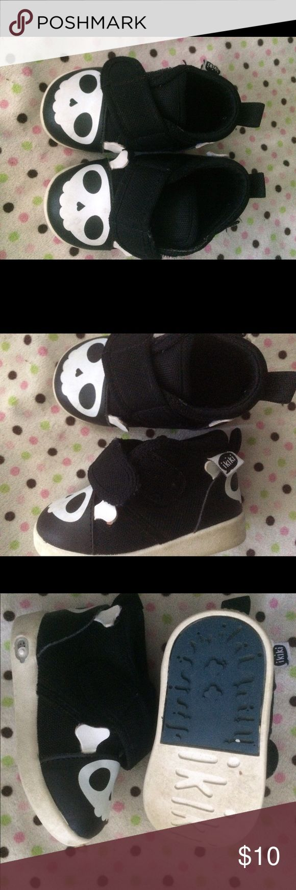 Ikiki squeaky shoes skull size 5 So cute! Squeaky sneakers with a cute skull, used but still in good shape Shoes Sneakers