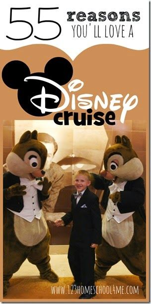 55 Reasons you'll love Disney Cruises - So many things I didn't even think of..... might have to try a Disney cruise for our  next familyvacation