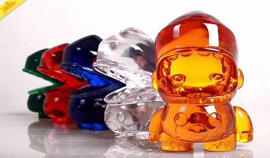 Mini Goji the Dino: Clear Color Series.