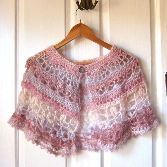 crocheted capelet by melpaton - Gorgeous! $50.00