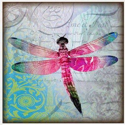 Imprimolandia Vintage Crafts Dragonfly Art Decoupage