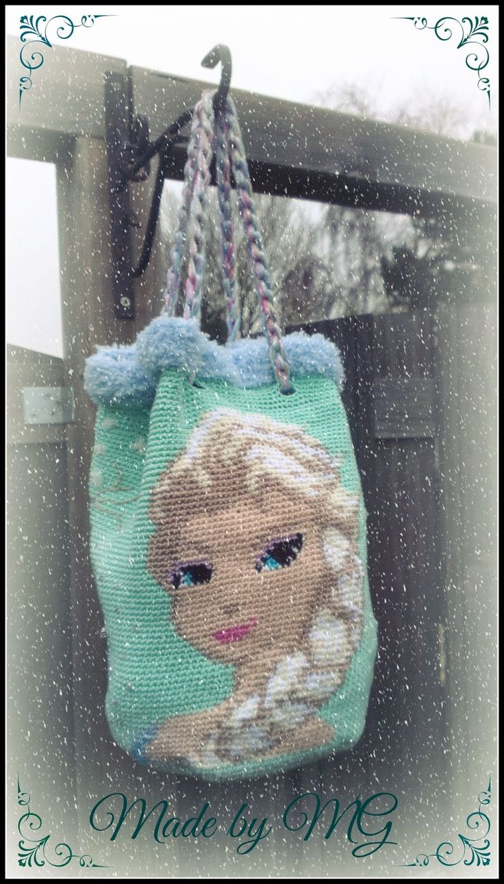 Haakpatroon van Frozen met Elsa en Olaf.