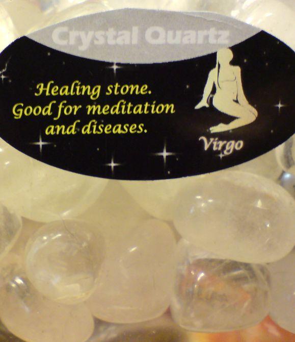 Zodiac Stone Virgo - Clear Quartz