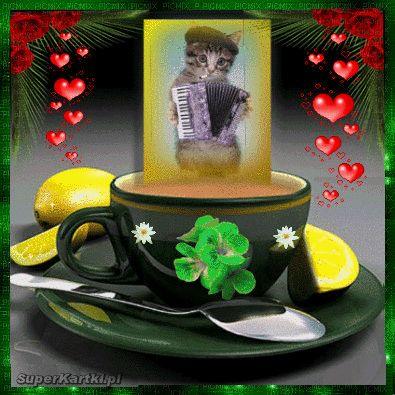 Przy herbatce miluśkiego popołudnia życzę