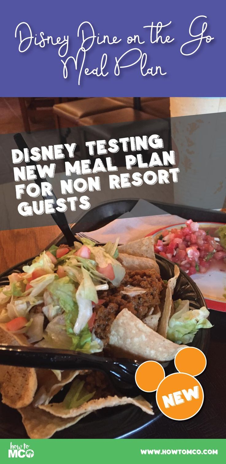 BRAND NEW! Disney testing out a new one day quick service meal plan available to even non-resort guests!