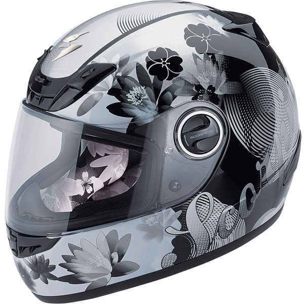 My helmet. Love it!  Scorpion Women's EXO-400 Lilly Helmet - Street Motorcycle - Motorcycle Superstore