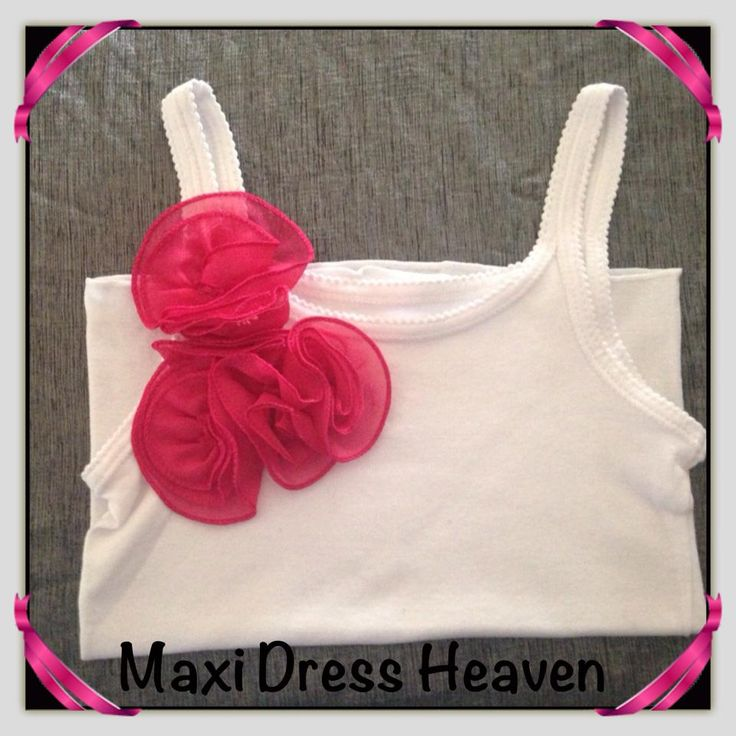 Girl's Cotton Singlet with Dark Pink Ruffle Accent with sizing from 1-2 to 9-10. Also available in long sleeve design. Available to pre-order from www.maxidressheaven.com #girl #clothing #handmade #singlet