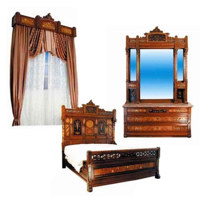 Art Nouveau Walnut 3 Piece Bedroom Suite: 62 Best Antique Bed Set Images On Pinterest