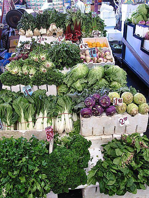 Vegetables, Queen Victoria Market. Melbourne, Australia.
