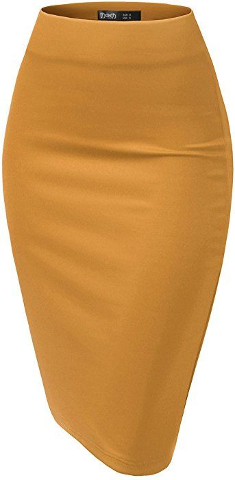 a70d217275fa TWINTH Pencil Skirts Plus Size Casual Skirt Elastic Waist Band Scuba  Streychy Solid Color RED S at Amazon Women's Clothing stor… | Wishlist/I  WANT IT!!