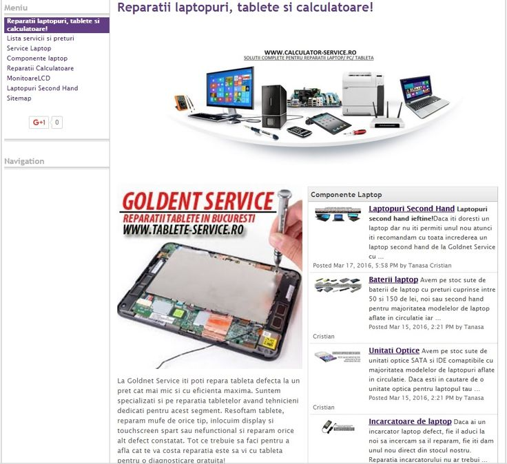Service de laptopuri - blog nou pe Google de la Goldnet!  https://sites.google.com/site/servicedelaptopuri/