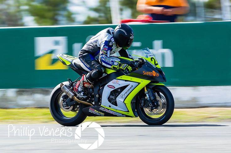 Mitchell Paynter at round 3 of the Superbike Championships at QLD Raceway 2014, #reevu #motorbikeracing