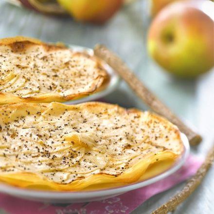 Recette de Tarte fine aux feuilles de brick à la pomme et cannelle