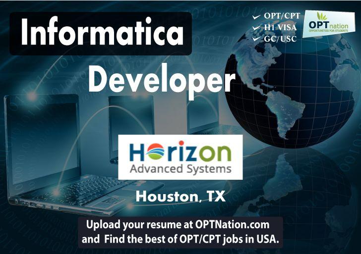 Informatica Developer #Jobs #OPt #texas #hiring #jobsearch Horizon ...