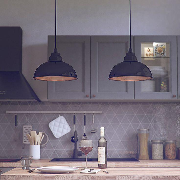 Lampe Suspension Botega - Noir & Cuivre - Enrico Zanolla - Visuel 2