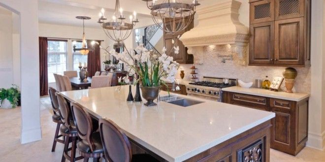Best Custom Designed Island And Cabinetry With White Quartz 400 x 300