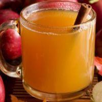 Autumn Apple Punch:: 1 1/2 quarts Apple juice* 2 Cinnamon sticks* 8 Whole cloves* 1 1/3 C. Pineapple juice* 1/2 C. Lemon juice* 2 pt. Orange juice* 28 oz. Ginger ale