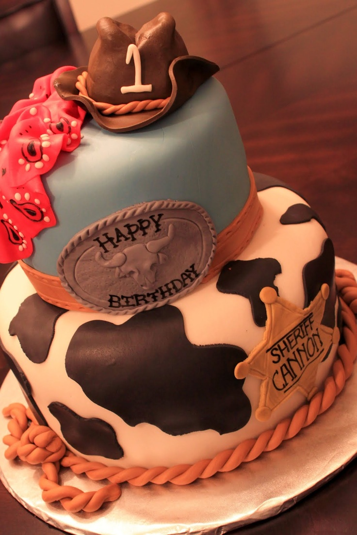 Cowboy cake - this would be perfect for my nephew :)
