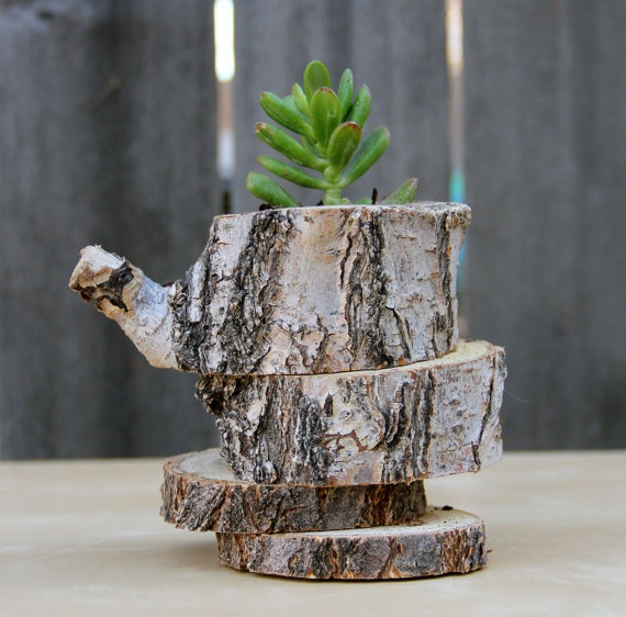 Tree Branch Wood Planter By Thesheepship On Etsy 23 00