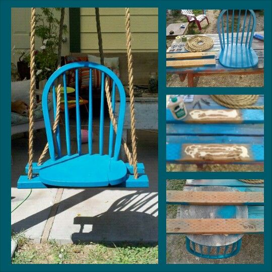 Diy chair swing diy projects pinterest for Diy indoor swing chair