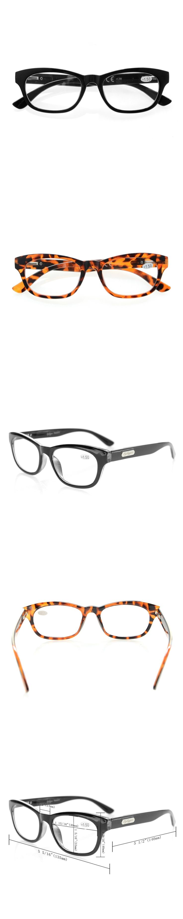 R120 Eyekepper Quality Spring Hinges Mens Womens Reading Glasses Stylish Look-Crystal Clear Vision  +0.50---+4.00